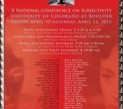 """Shape of the 'I'"" Conference Reading, Saturday, April 14, 8 p.m. to 10 p.m."