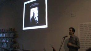 Vincent Katz: Talk on Black Mountain College, April 20, 2014