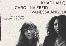 Khadijah Queen, Carolina Ebeid, and Vanessa Villarreal, March 5, 2016