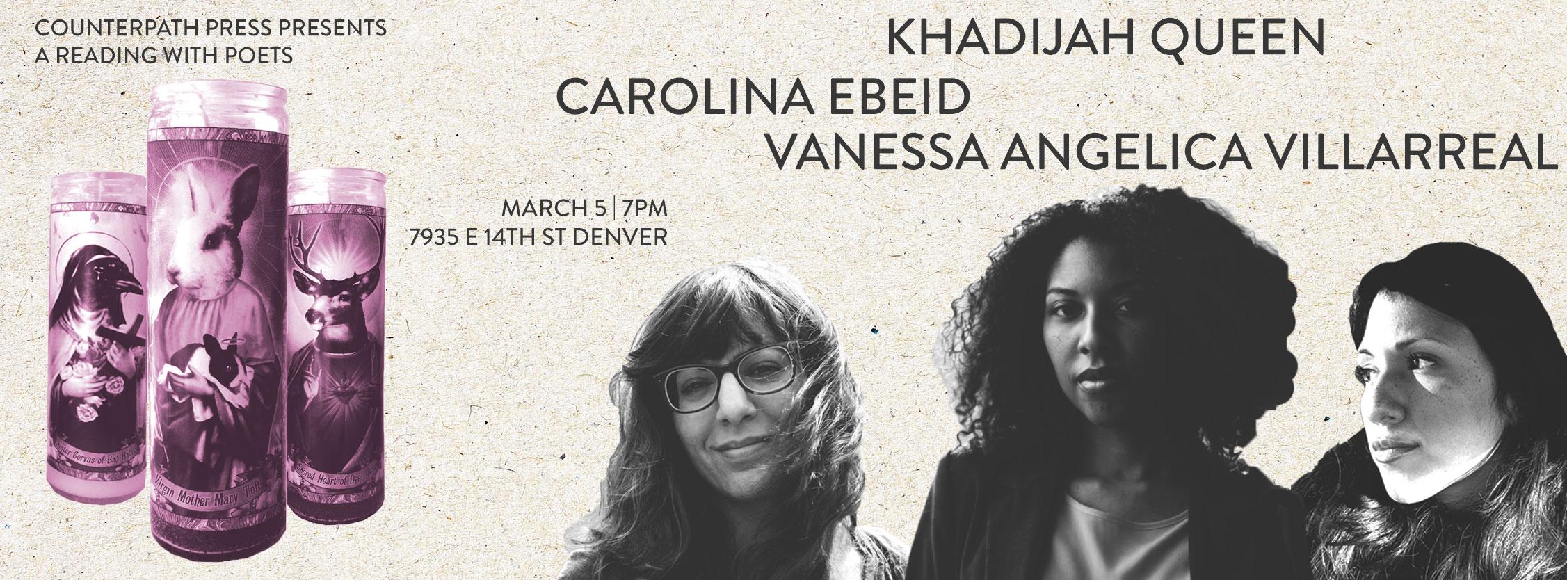 Khadijah Queen, Carolina Ebeid, and Vanessa Villarreal, March 5, 2016