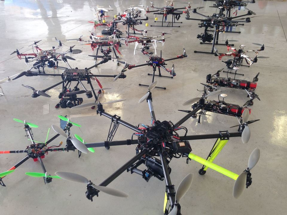 Drone Exhibit at City Park Jazz, Sunday, July 24, 2016