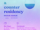 Blair Sagan: A Counter Residency, September 25–October 9, 2020